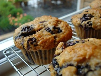 Blueberry Oat Muffins from Mennonite Girls Can Cook...
