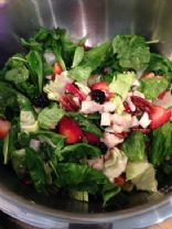 Berry Chicken Salad with Sweet Almond Dressing