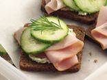 Smokey Ham & Cream Cheese Tea Sandwiches