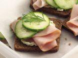 Smokey Ham & Cream Cheese Tea Sandwiches