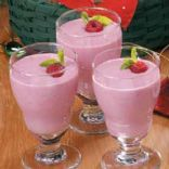 Cocunut, Banana, Rasberry Smoothie