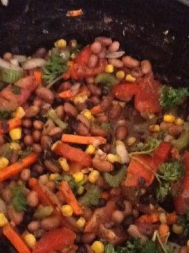Grandma's Slow Cooker Vegetarian Chili Recipe | SparkRecipes