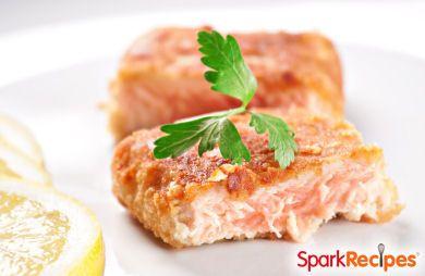 Matzo-Breaded Salmon