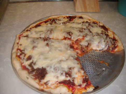 Barbecue Beef Pizza on the Grill