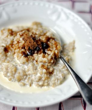 Steel cut oats (made the night before)