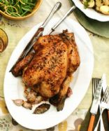 Roast Chook with Garlic & Verjuice