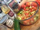 Chick Pea Tomato and Cucumber Salad