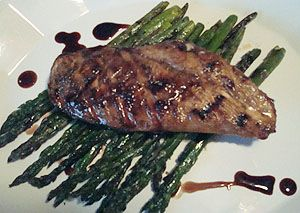 Balsamic Grilled Chicken & Asparagus