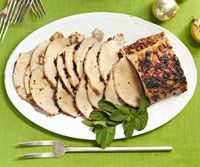 Pork and Cherry-Ancho Sauce