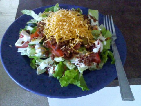 Bacon Cheeseburger Salad Recipe | SparkRecipes