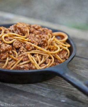 Clean Eating Skillet Spaghetti
