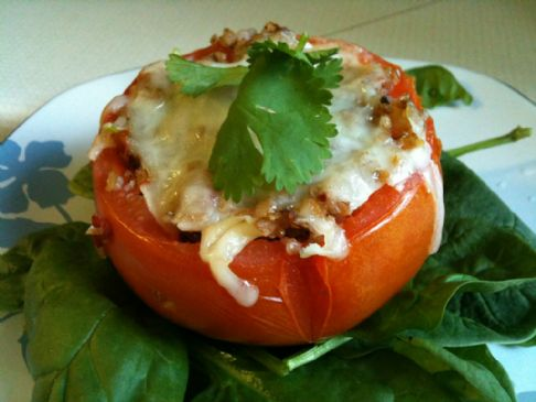 Bulgur Stuffed Tomatoes