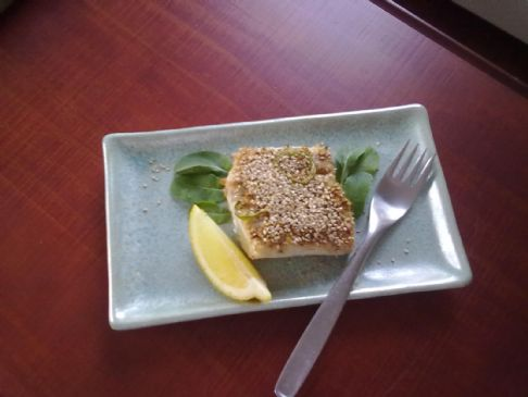 Ginger Lime Mahi Mahi with Jalapeno and Sesame