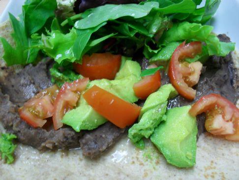 Black Bean and Veggie Wrap