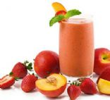 Strawberry Peach Soy Smoothie