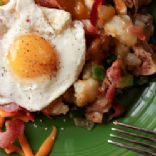Bacon and Egg Hash