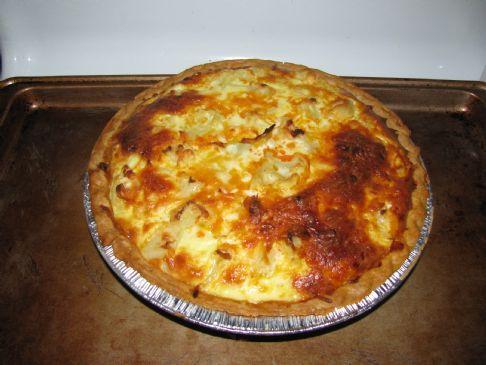 Cauliflower Turkey Taco Quiche