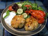 Fish and Prawn Cakes with Macadamias and Mint Yoghurt