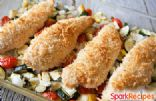 Baked Chicken Parmesan with Roasted Summer Squash