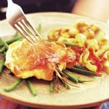 Pangasius with green beans