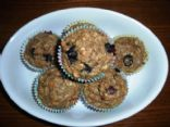 Oatmeal Blubeberry Applesauce Muffins