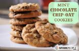 Mint Chocolate Chip-Oat Cookies