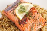 Grilled Salmon with Herbs 