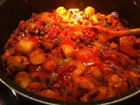 Sausage Smokey Stew (with black beans)