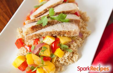 Pork Tenderloin with Mango-Chili Sauce