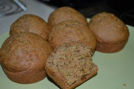 Whole wheat oat bran  Zucchini Muffin