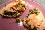 Hummus and Spinach Stuffed Chicken