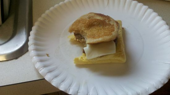 Sausage, Egg, and Cheese ChickGriddle