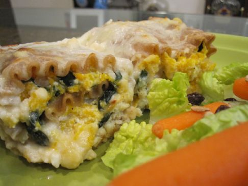 Butternut Squash Lasgana Rolls Ups with Fantastic Cheese Sauce