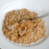Baked Peanut Butter Coconut Oatmeal
