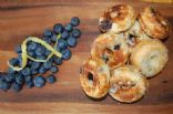 Clean blueberry whole wheat bagels