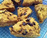 Pumpkin Carob (or chocolate) Scones--vegan and guilt-free