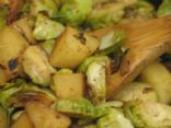 Brussel Sprouts and Potato Saut