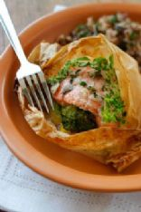 Baked fish with Broccoli and Herb-Butter