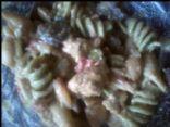 Tuesday's Garlic Chicken n shrimp veggie pasta