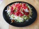 Ground Chicken Taco Salad with Refried Beans