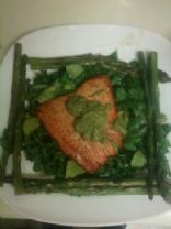 CLEAN Warm Salmon and Asparagus Salad