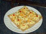 Scrambled Zulom Eggs (Spicy scrambled egg canape)