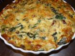 Crustless Quiche with Onion, Mushrooms and Swiss Chard