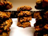 Dark chocolate-raisin-oat cookies