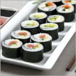 8. Serve the sushi with accompaniments