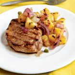 Cooking Light - Pan-Grilled Pork Chops with Grilled Pineapple Salsa