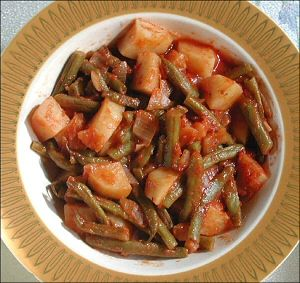Greek Style Green bean & potato stew