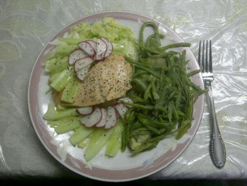 White Wine Salmon Salad