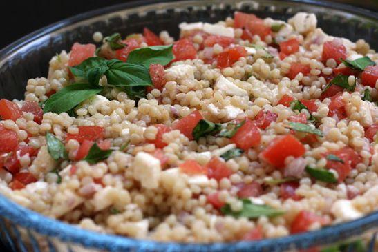 SBD Tomato- Basil Couscous Salad