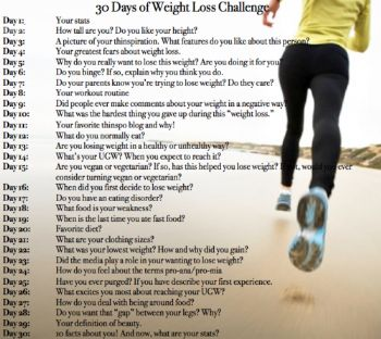 weight loss plan 30 days